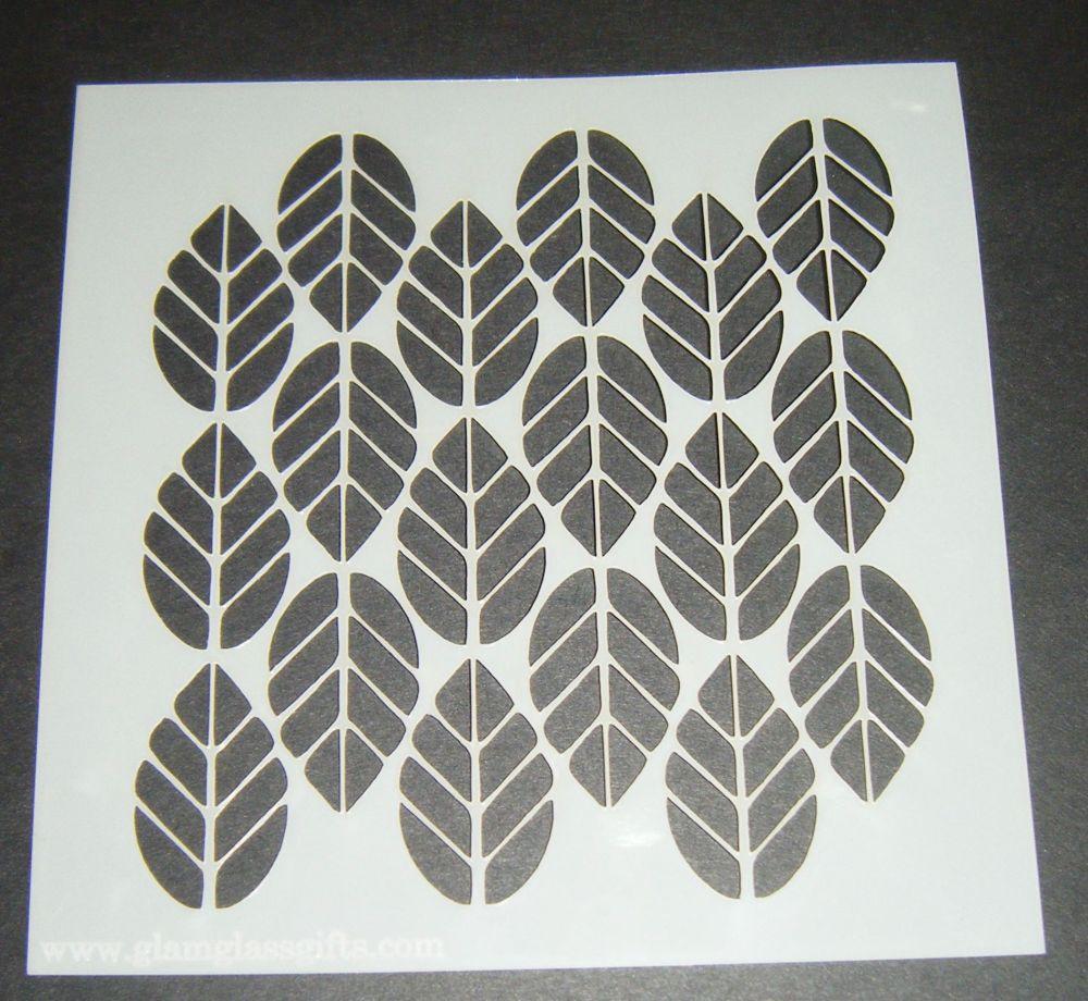 Leaf Pattern Design 6 Cake Craft Stencil