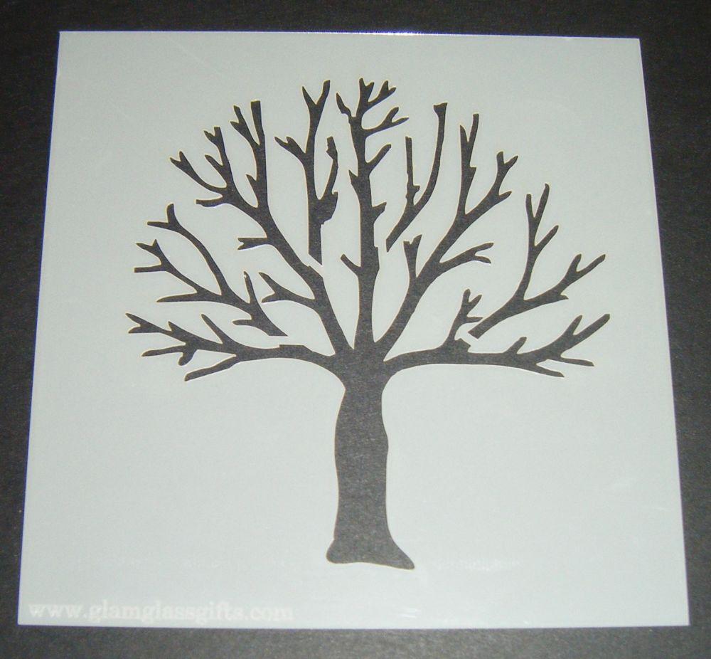 Tree Design Cake Craft Stencil