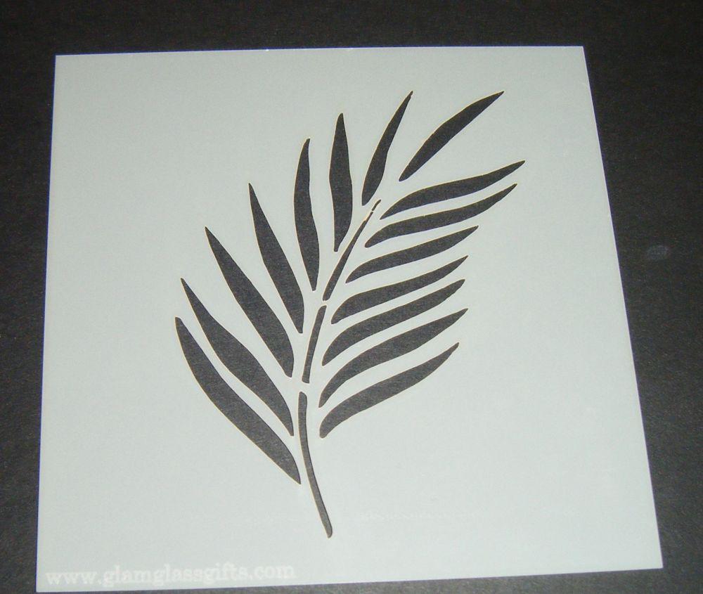 Single Leaf Design 2 Cake Craft Stencil