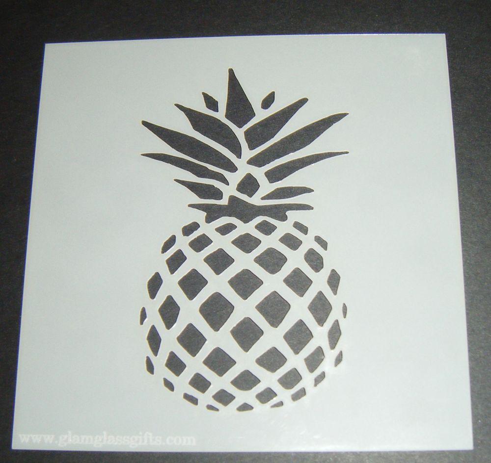 Pineapple Design 2 Cake Craft Stencil