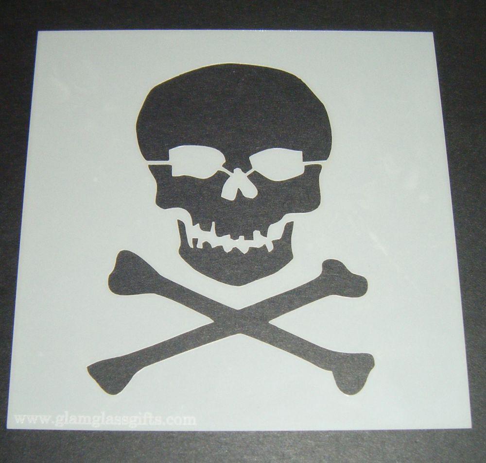 Skull & Crossbones Design Cake Craft Stencil