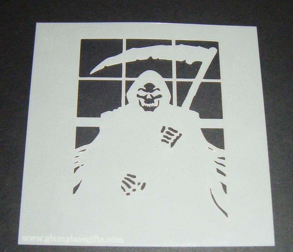 Grim Reaper Design Cake Craft Stencil