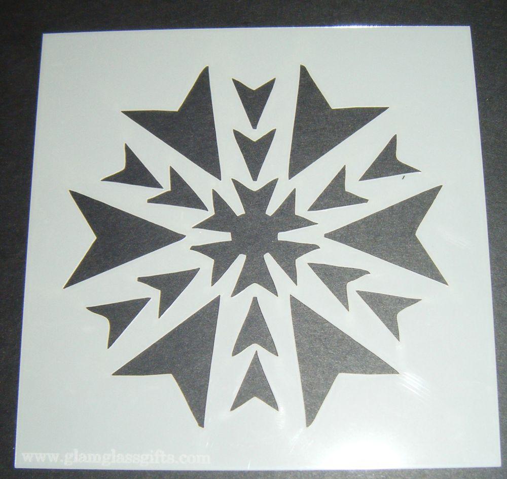 Single Snowflake Design 2 Cake Craft Stencil