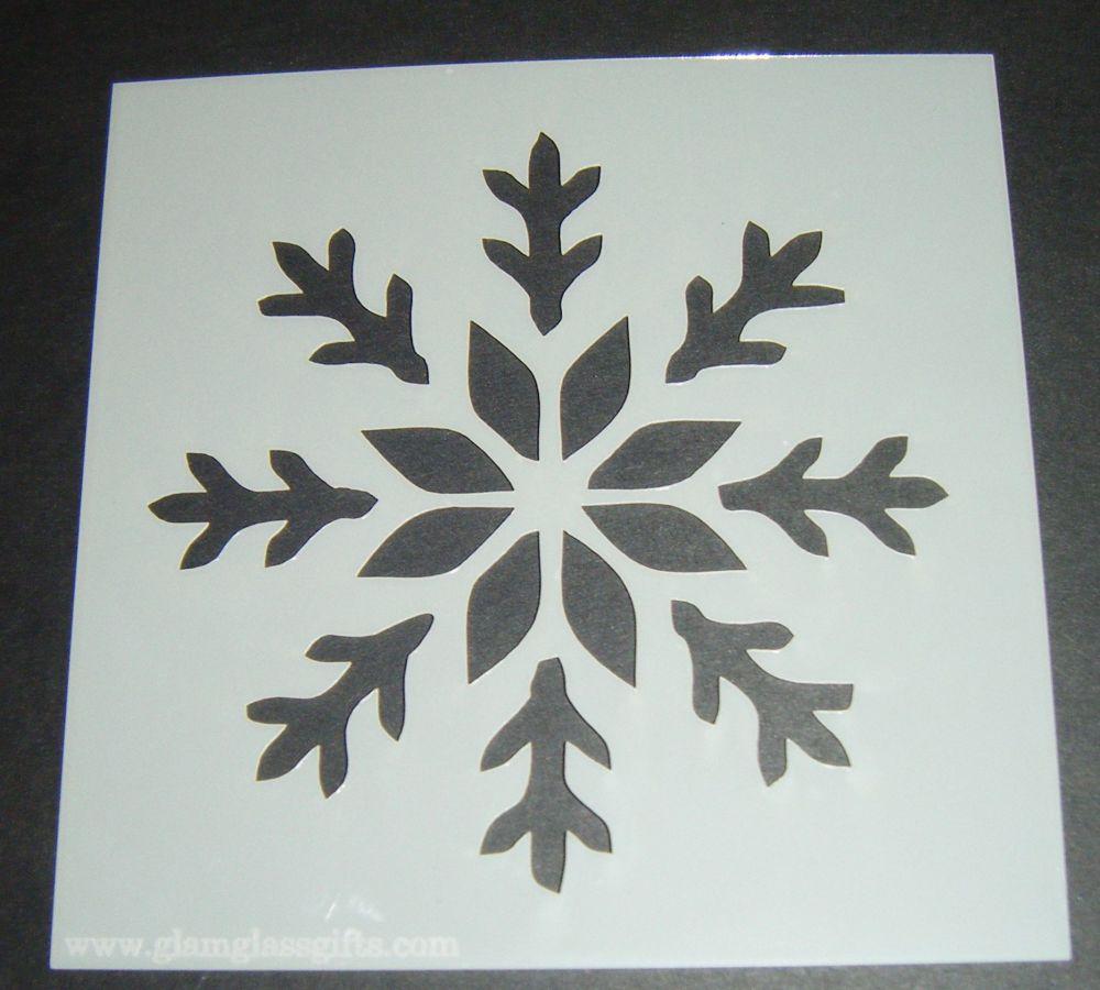 Single Snowflake Design 3 Cake Craft Stencil