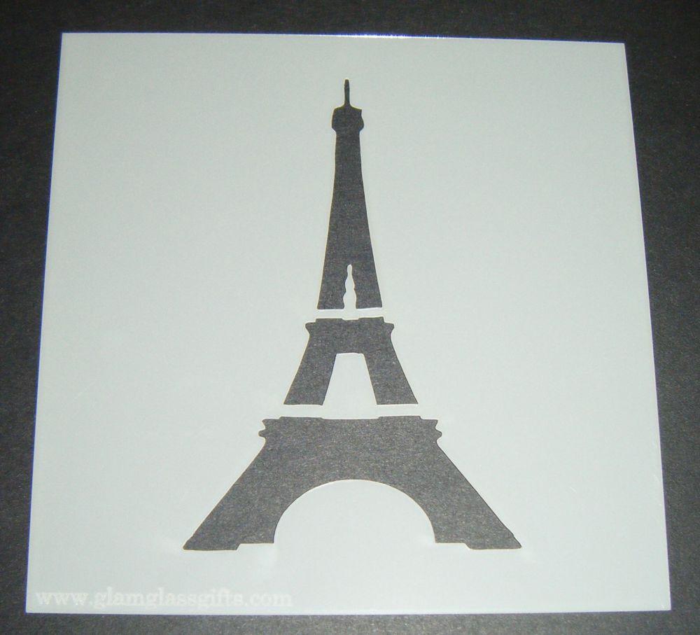 Eiffel Tower Design Cake Craft Stencil
