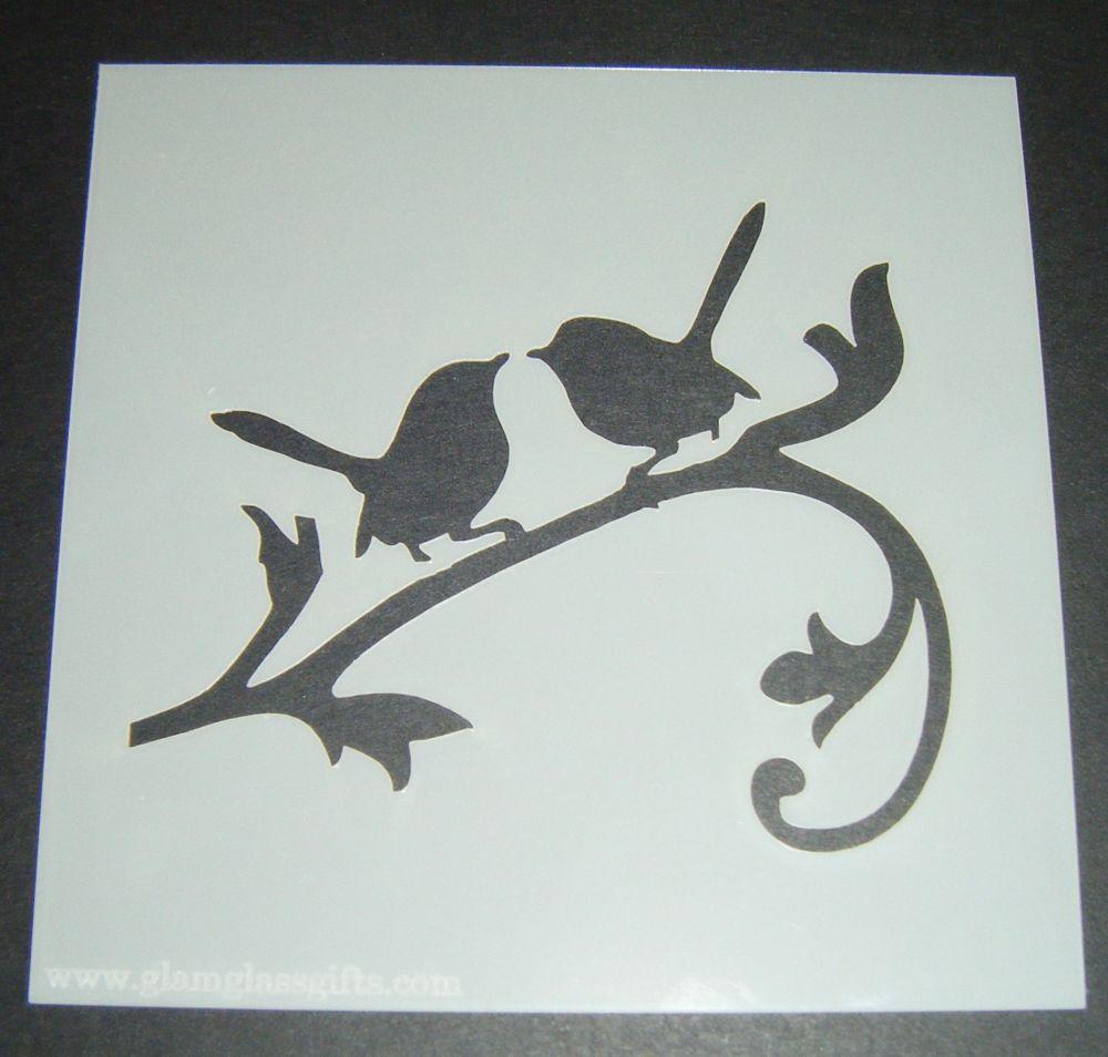 LoveBirds Design Cake Craft Stencil