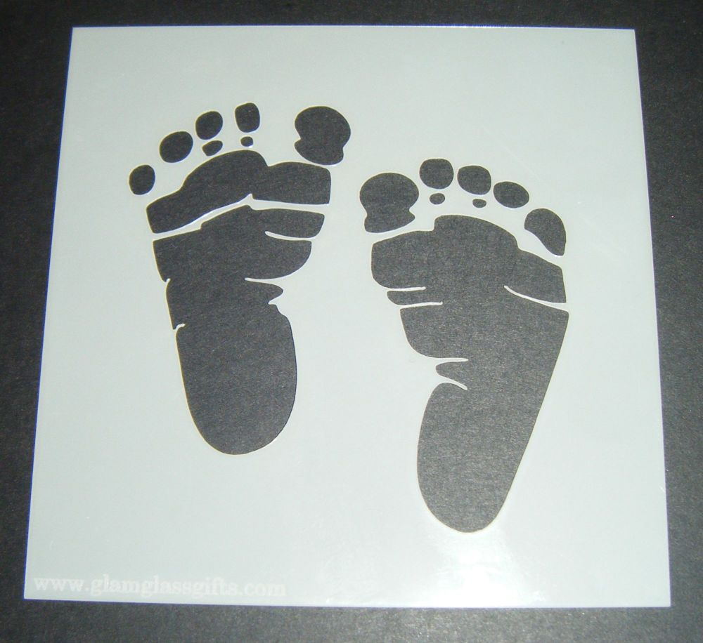 Baby Feet Design Cake Craft Stencil