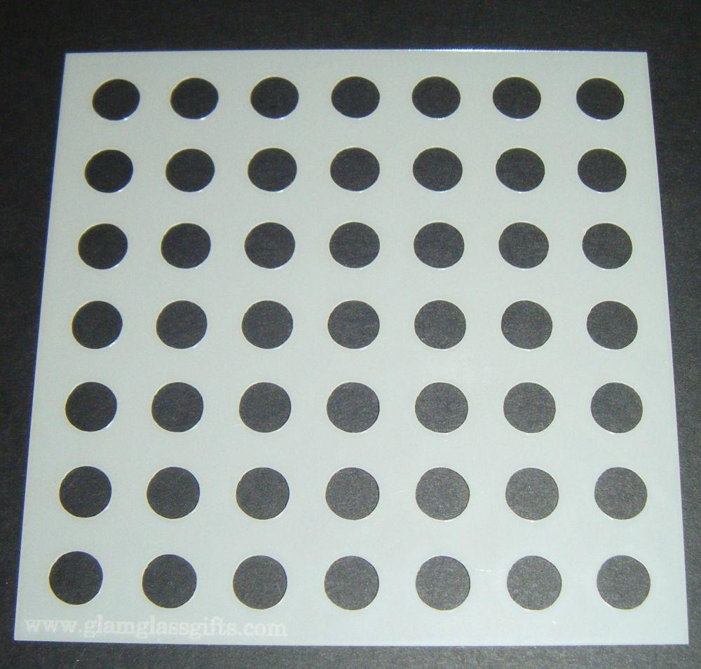 Polka Dots Spots Design Cake Craft Stencil