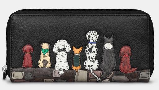 Bark To Bark Dog Zip Round Leather Purse - Yoshi