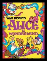 Walt Disney Classic Alice In Wonderland - Framed Print Wall Art