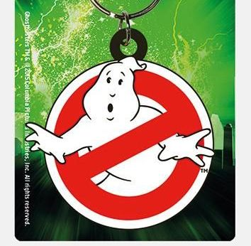 Ghostbusters Logo - Quality Rubber Keyring