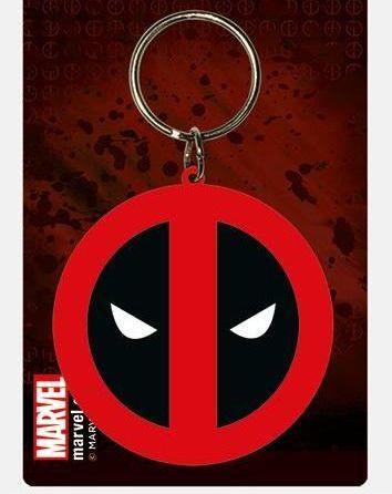 Deadpool Logo Marvel  - Quality Rubber Keyring