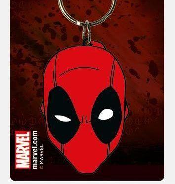 Deadpool Face Marvel  - Quality Rubber Keyring