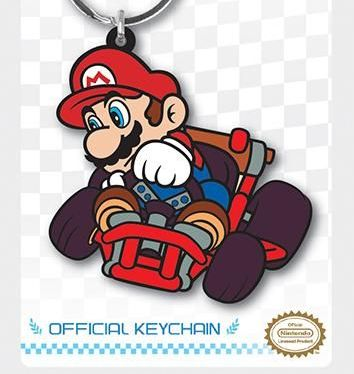 Nintendo Mario Kart    - Quality Rubber Keyring