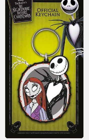 Nightmare Before Christmas Jack + Sally Disney - Quality Rubber Keyring
