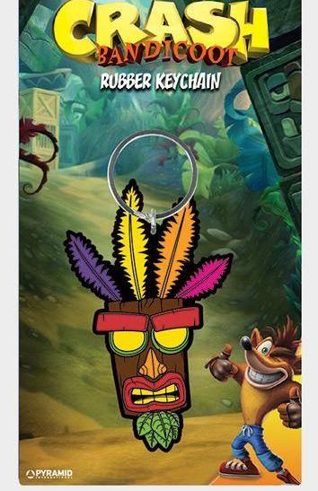 Crash Bandicoot Aku Aku - Quality Rubber Keyring