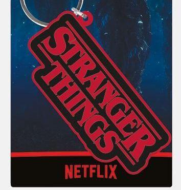 Stranger Things Logo  - Quality Rubber Keyring