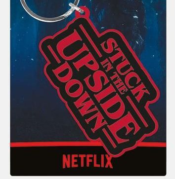 Stranger Things Stuck in the Upside Down  - Quality Rubber Keyring