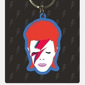 David Bowie Aladdin Slade  - Quality Rubber Keyring