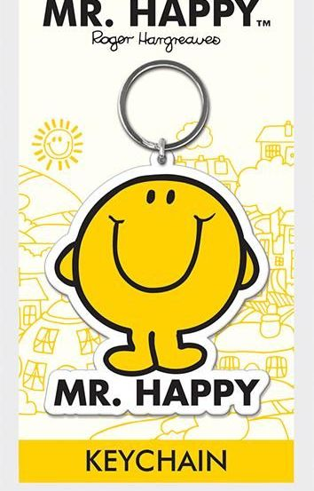 Mr Men - Mr Happy  - Quality Rubber Keyring