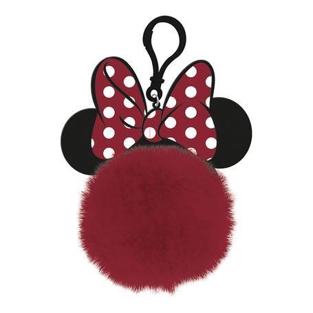 Disney Minnie Mouse Ears  - Quality Pom Pom Keyring