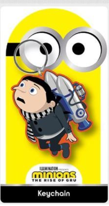 Minions Rise of Gru  - Quality Rubber Keyring
