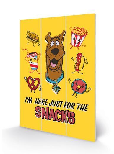 Scooby Doo Snacks - Wooden Panel Wall Art