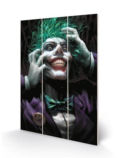 DC Batman Joker  - Wooden Panel Wall Art