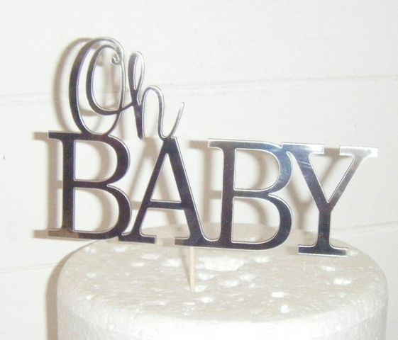 Oh Baby Shower Cake Topper Design 3