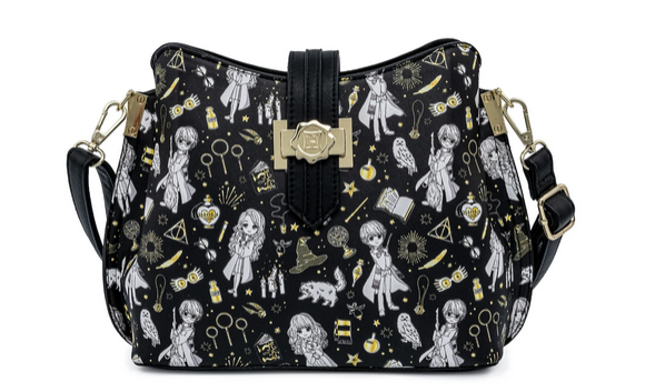 Harry Potter Magical Elements Loungefly Crossbody Bag