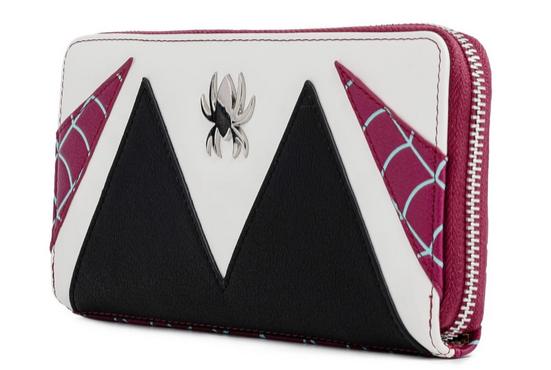 Spiderman Spider Gwen Loungefly Marvel Zip Around Purse Wallet