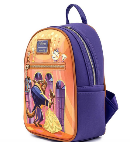 Beauty And The Beast 30th Anniversary Loungefly Disney Mini Backpack Bag