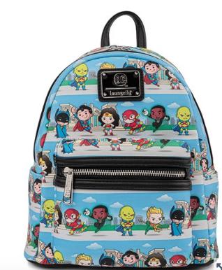 DC Superheroes Chibi Loungefly Mini Backpack Bag
