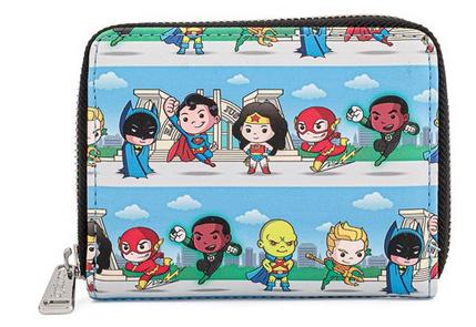 DC Superheroes Chibi - Loungefly Zip Around Purse Wallet