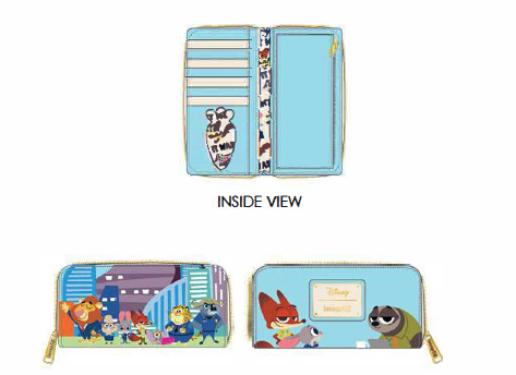 Zootopia Loungefly Disney Zip Around Purse Wallet