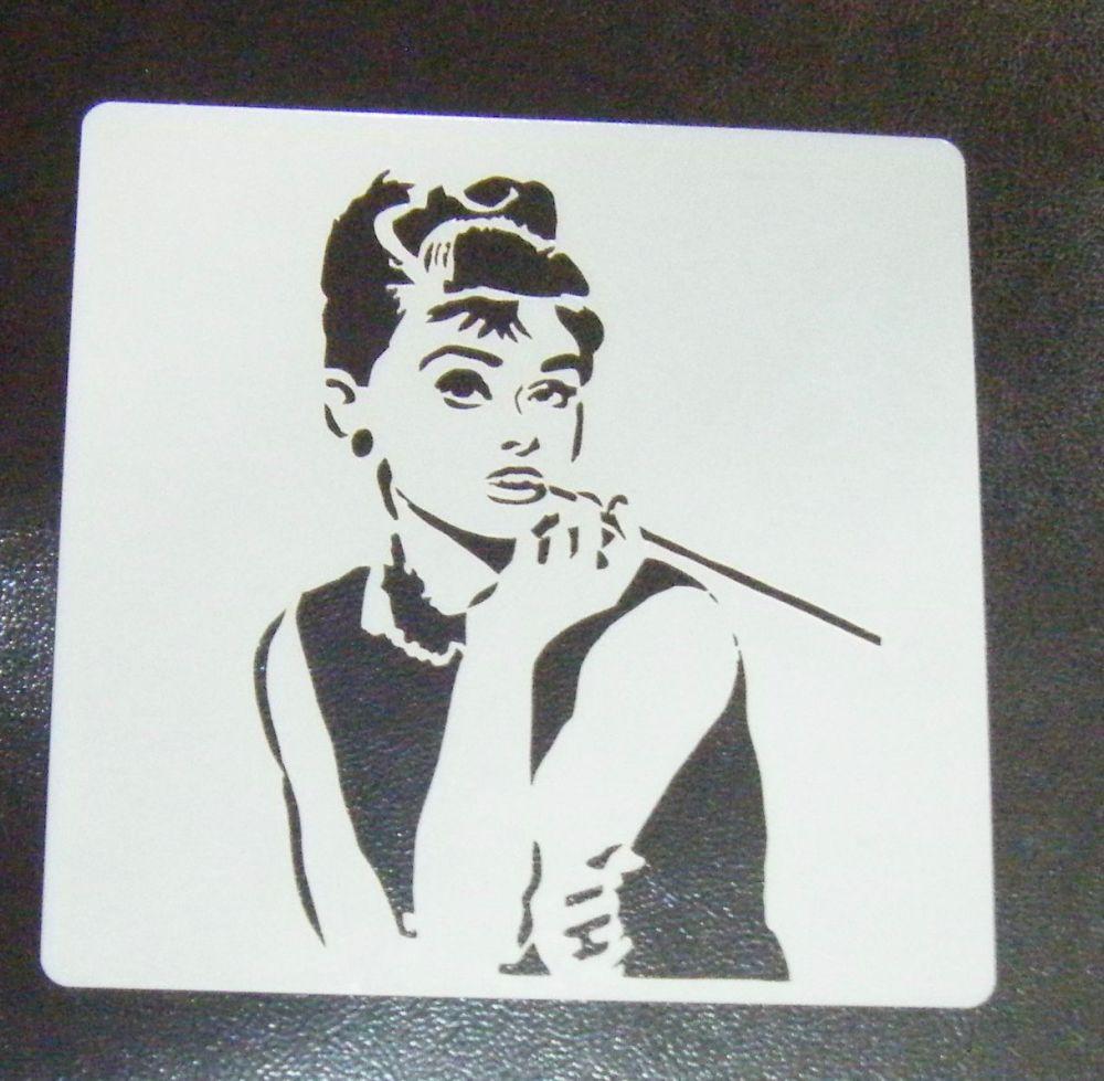 Audrey Hepburn Cake Stencil