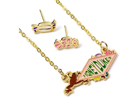 Harry Potter - Honeydukes Necklace and Stud Earring Set