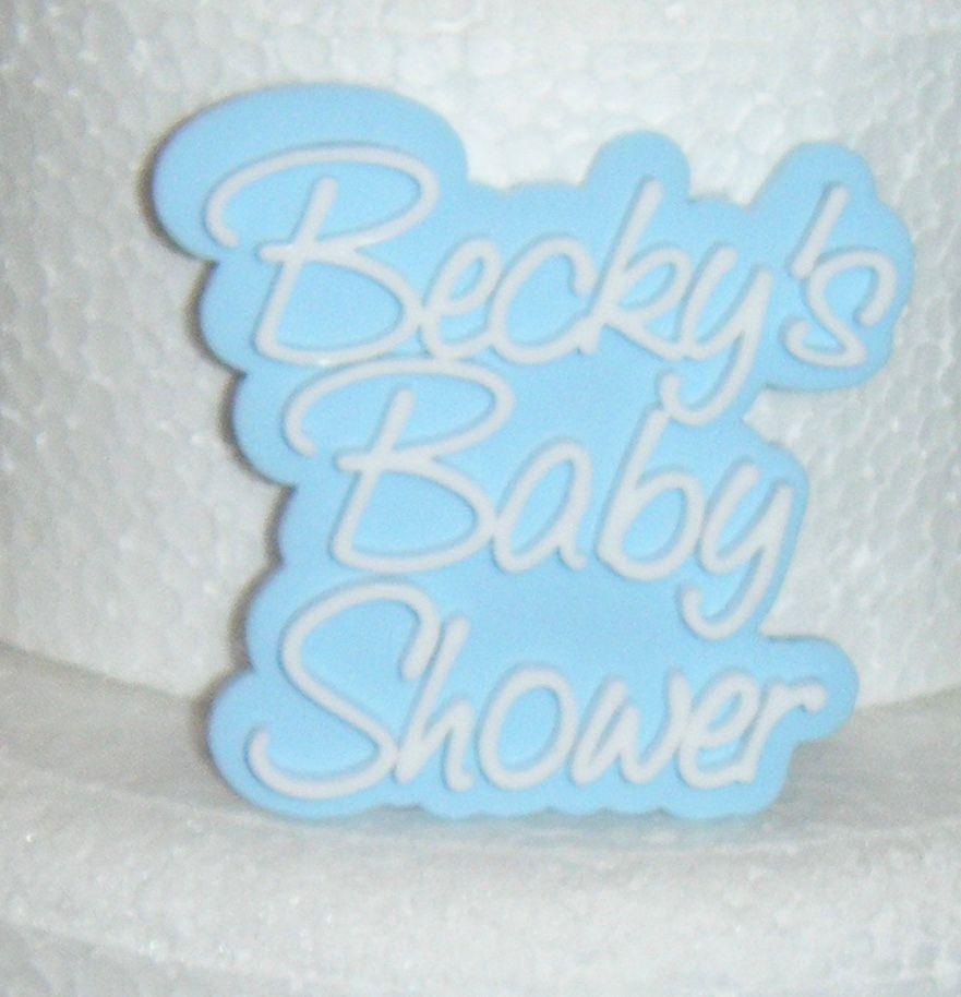 Custom Double Mini Cake Topper or Cake Embellishement