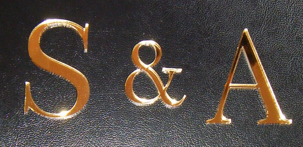 Custom Small Initials Letters for Front of Cake Style 3