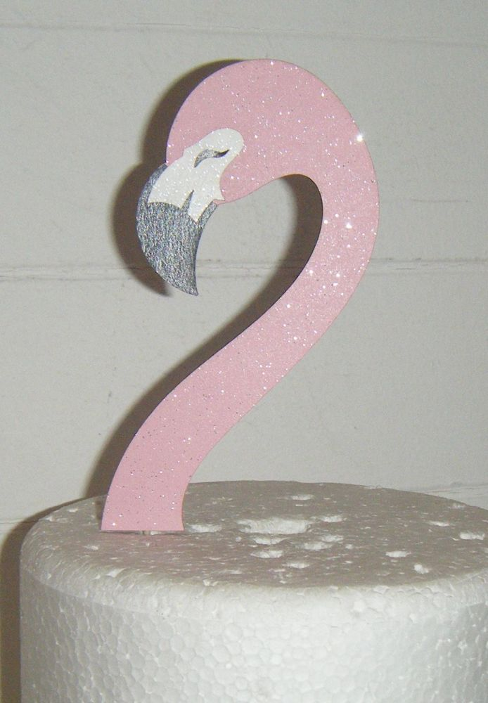 Flamingo Head as Shown Only in Card Cake Topper