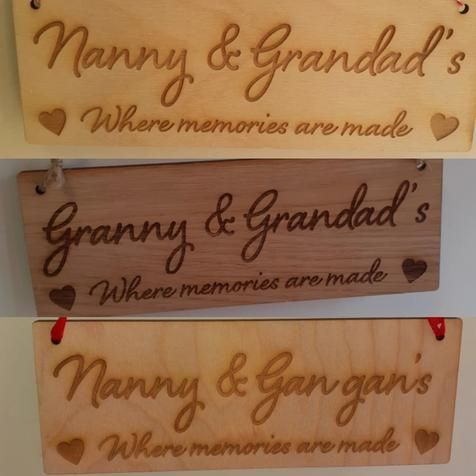 Granny & Grandad's Where Memories are Made - Wooden Plaque