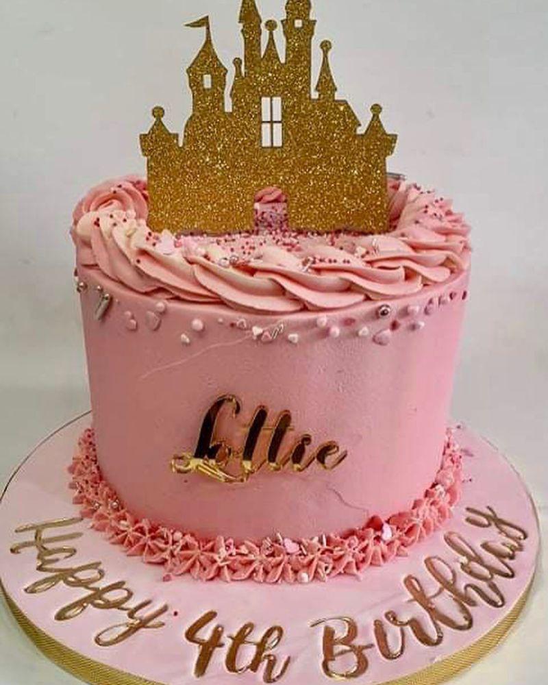 Castle Topper Silhouette Cake Topper