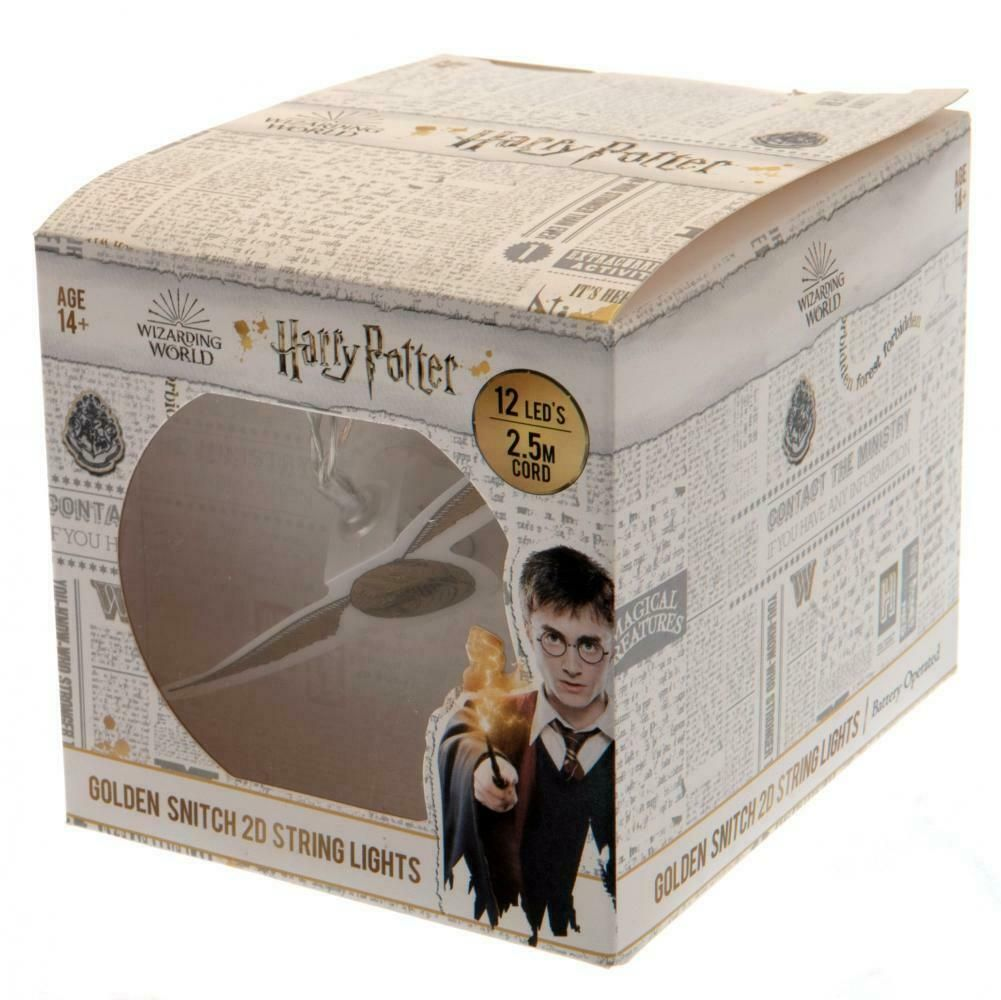 Golden Snitch Harry Potter 2D String Light