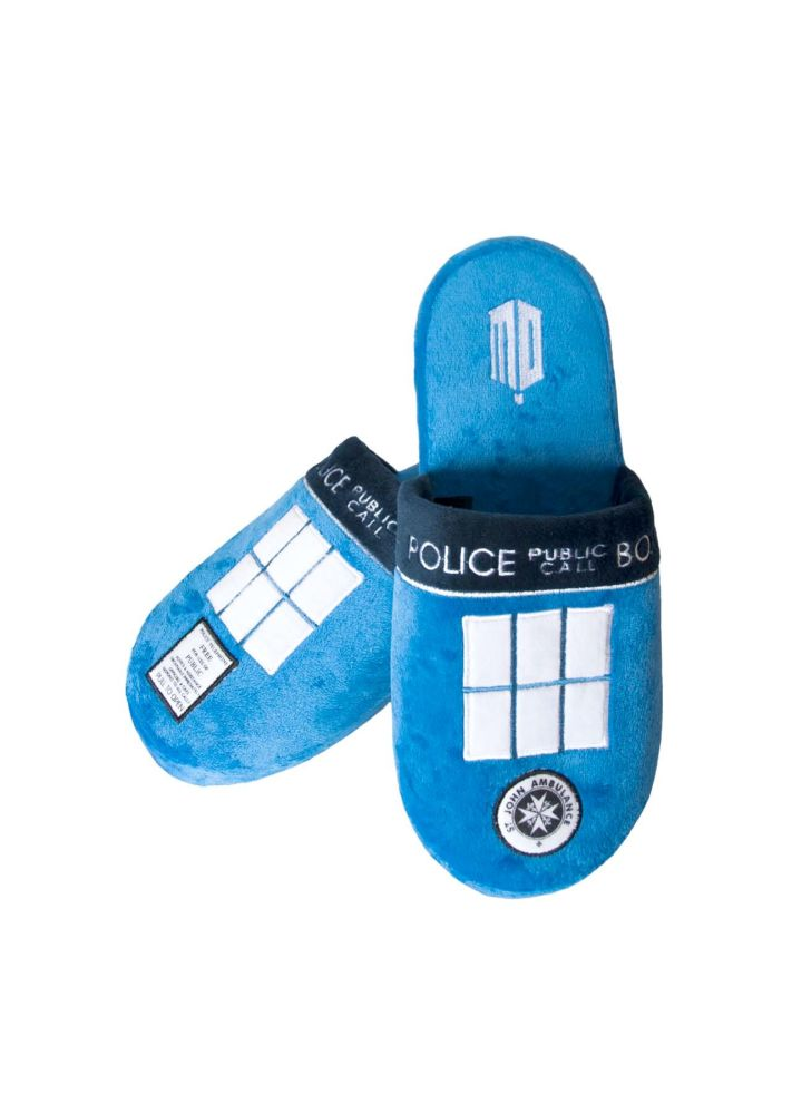 Dr Who Tardis Adult Slippers - Size 8 -10