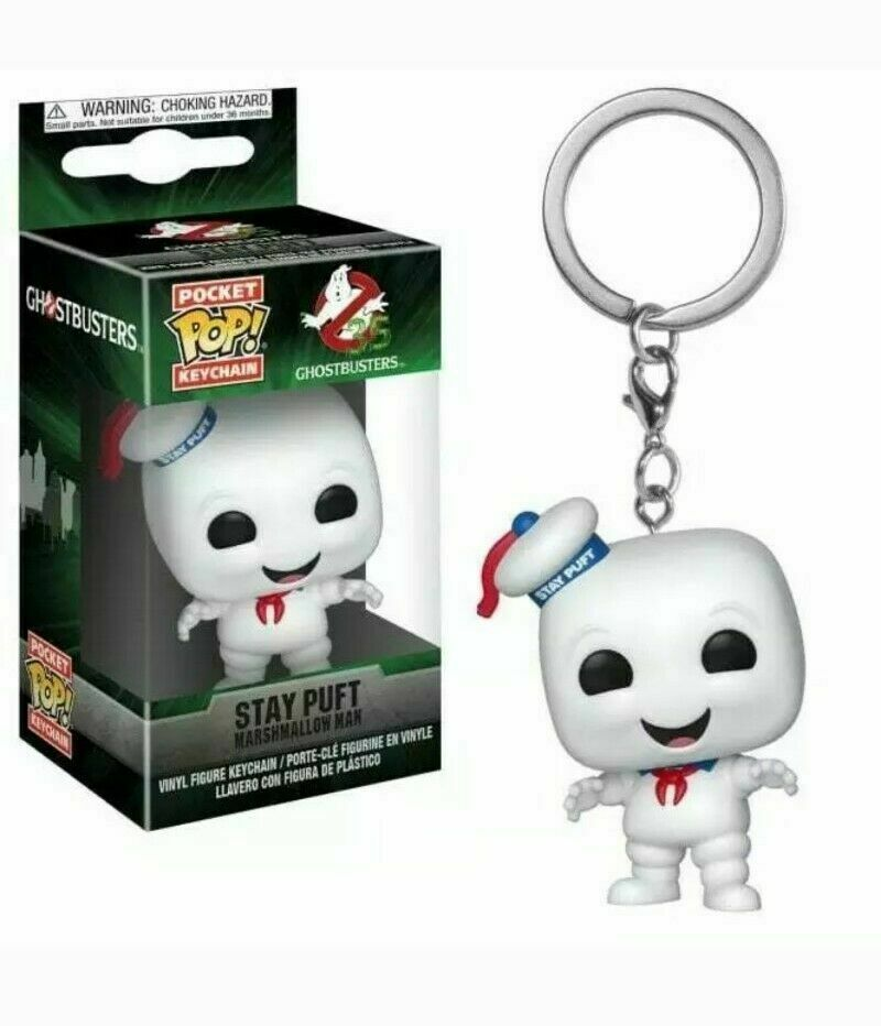 Ghostbusters Stay Puft Marshmallow Man - Mini Funko Pocket Pop Keyring Keychain