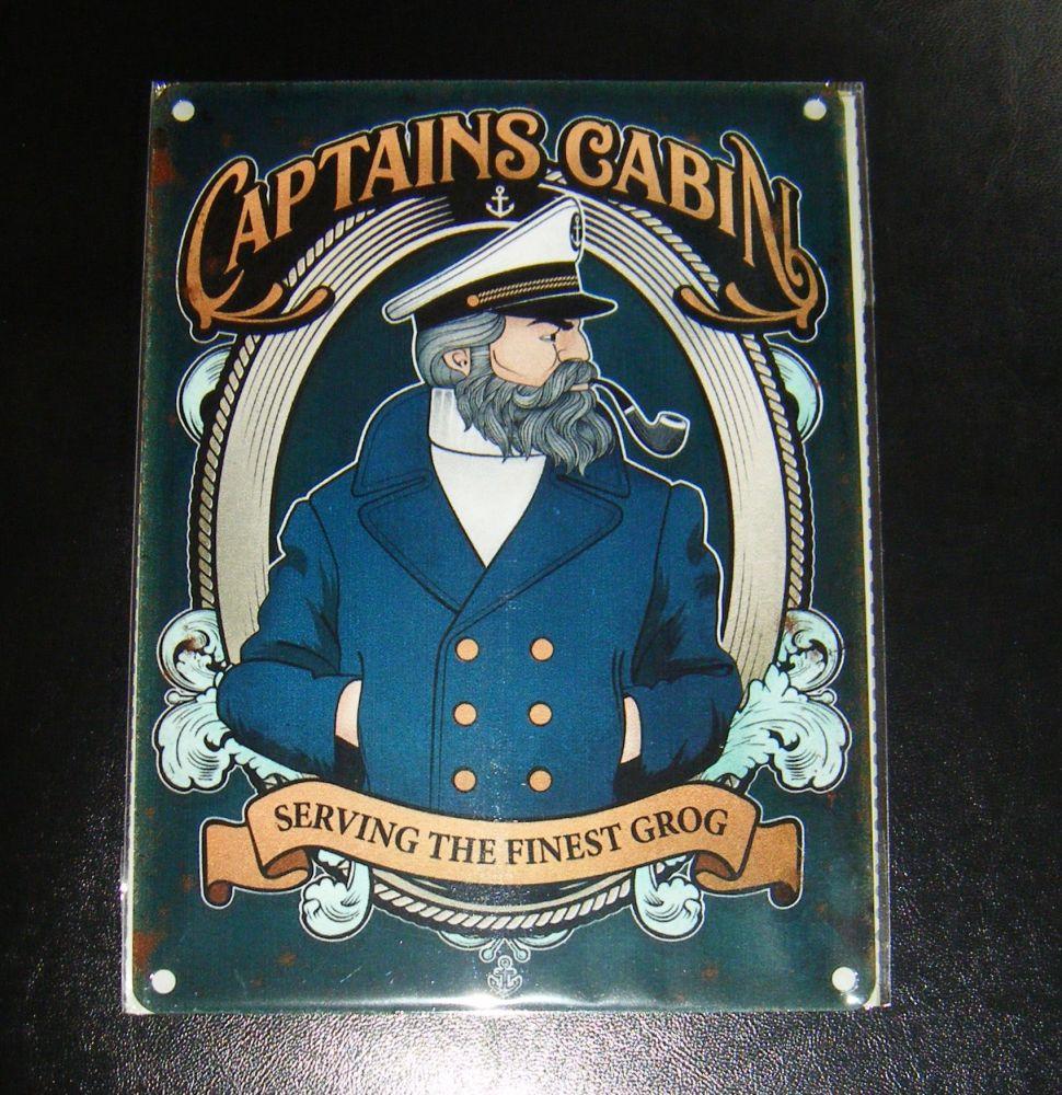 Captains Cabin - Pub Metal Wall Sign