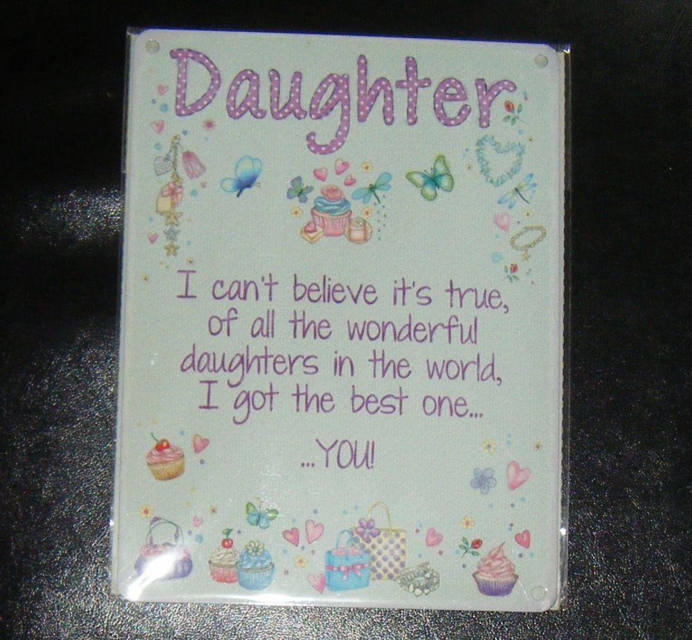 Daughter Metal Wall Sign