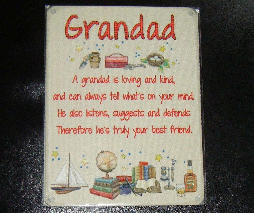 Grandad - Best Friend Metal Wall Sign