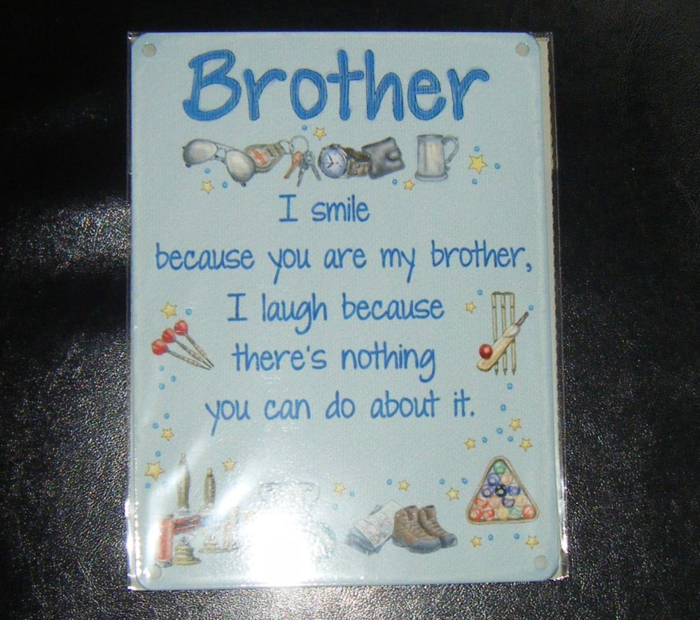 Brother Funny Metal Wall Sign