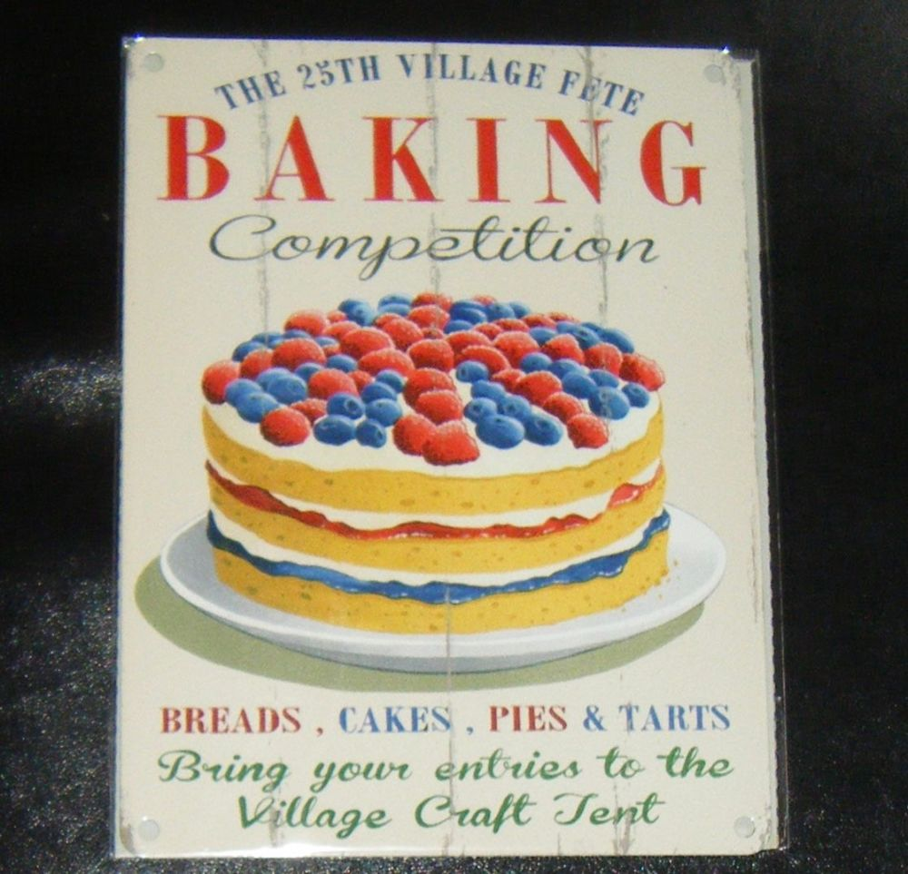 Baking Competition Cake Metal Wall Sign